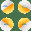 50-Pack-KEVENZ-3-Star-Plus-40mm-Half-color-mandarin-duck-Balls