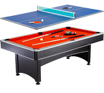 Hathaway Maverick 7-foot Pool and Table Tennis Multi-Game