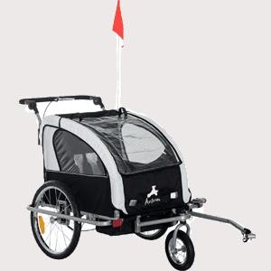 Aosom-Elite-II-3in1-Double-Child-Bike-Trailer