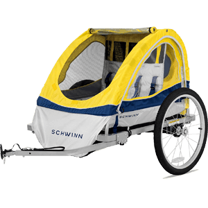 Schwinn-13-SC677AZ-Echo-Double-Bike-Trailer-Yellow