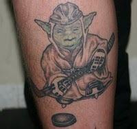 Yoda Ice Hockey Tattoo HockeyGods