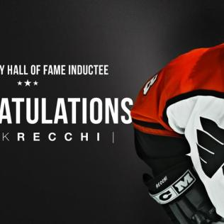 Recchi-HHOF Mark Recchi Atlanta Thrashers Boston Bruins Carolina Hurricanes Mark Recchi Montreal Canadiens Philadelphia Flyers Pittsburgh Penguins Tampa Bay Lightning