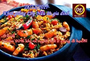 28/12/2017 - Khai giảng lớp nấu ăn gia đình - Học Món Việt