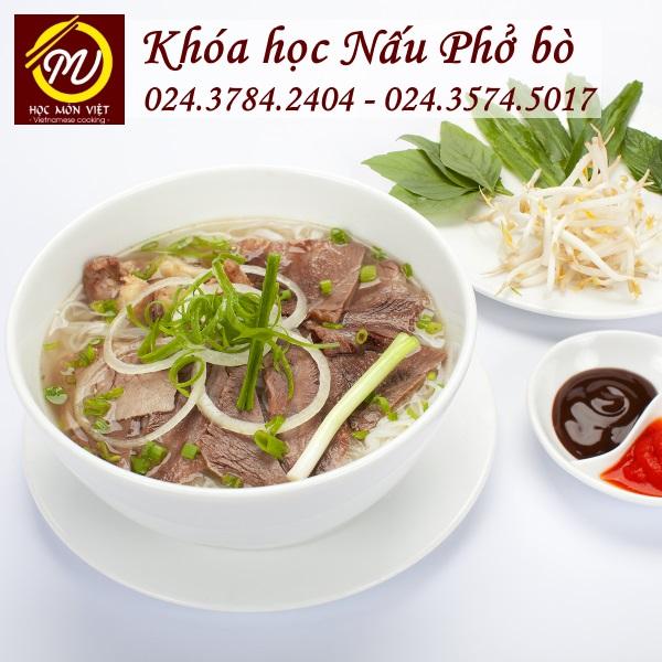 khóa học nấu phở bò mở quán - Học Món Việt