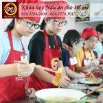 khóa học nấu ăn dành cho trẻ em tại Học Món Việt