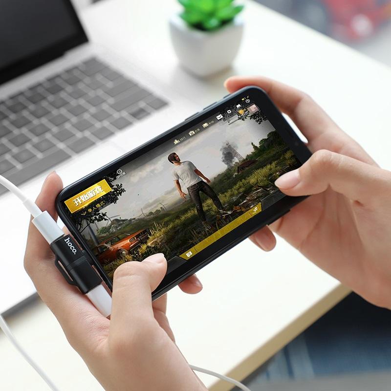 hoco ls20 apple dual lightning digital audio converter gaming