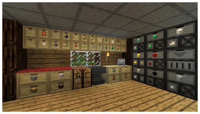 Storage Drawers Mod 1.8.8, 1.8.7, 1.8 and 1.7.10