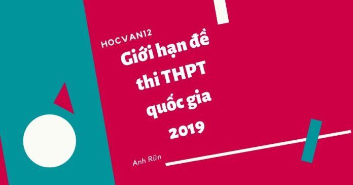 Giới hạn đề thi THPT quốc gia 2019
