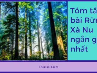 Tóm tắt bài Rừng Xà Nu ngắn gọn nhất
