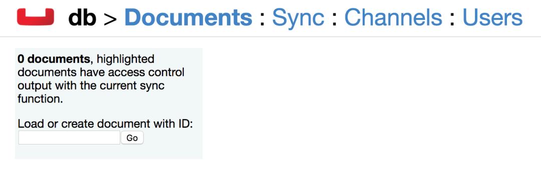 Sync Gateway Admin Database View