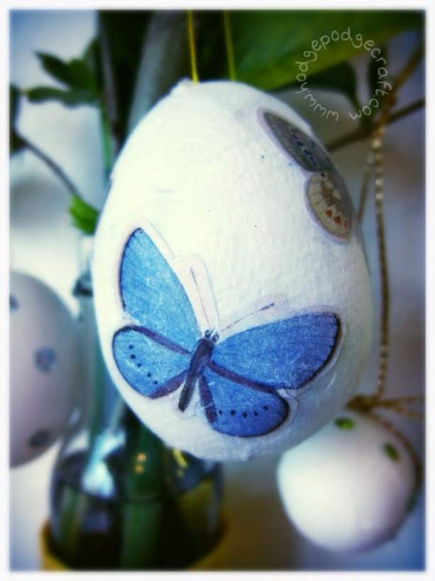 How to Make Decoupage Eggs for Easter   Hodge Podge Craft