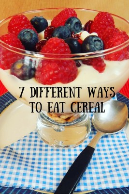 things to do with cereal