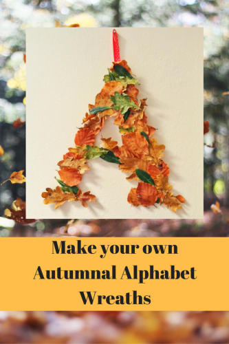 autumnal alphabet wreaths