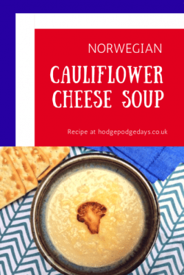 Recipe: Norwegian Inspired Cauliflower Cheese Soup
