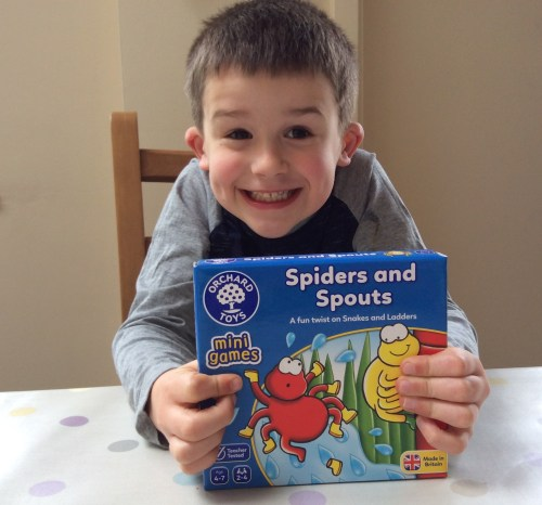 Review: Spiders and Spouts Mini Game from Orchard Toys