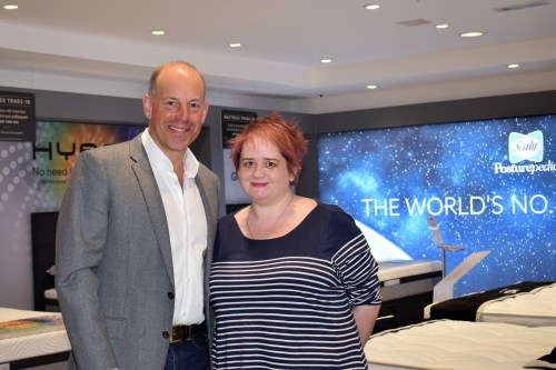 Sleep tips & Phil Spencer at the Silentnight flagship showroom
