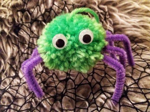 Crafts: Spooky Halloween Pom Pom Spiders