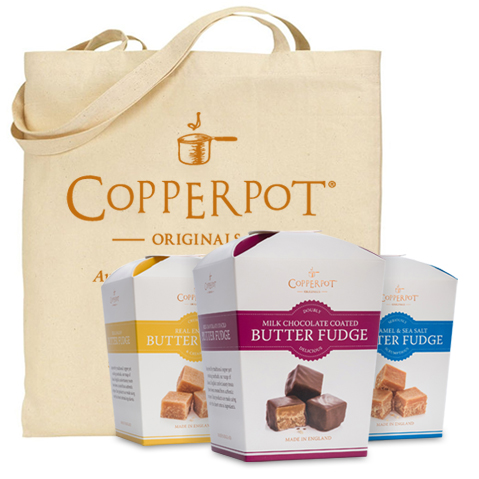 Win a Copperpot Originals Cornish Butter Fudge Hamper