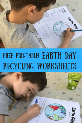 Learn about Recycling for Earth Day PLUS Free Worksheets