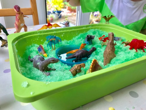 Learning: Dinosaur Sensory Gelli Baff Activity Box