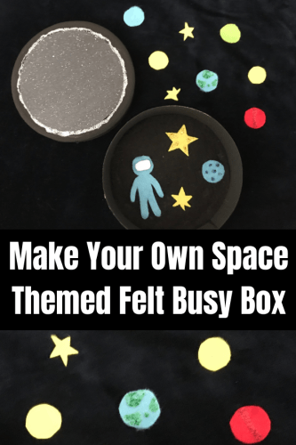 Crafts: Make your own Space Themed Felt Busy Box