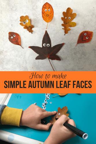 Autumn Leaf Crafts: Simple Autumn Leaf Faces