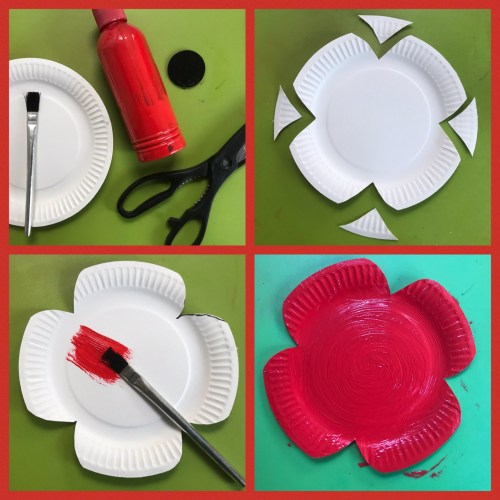 Crafts: Easy Paper Plate Remembrance Poppies