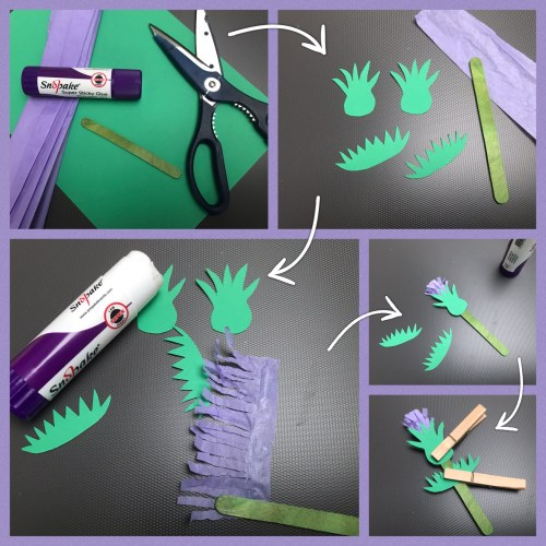 Kids Crafts: Make a Popsicle Stick Scottish Thistle