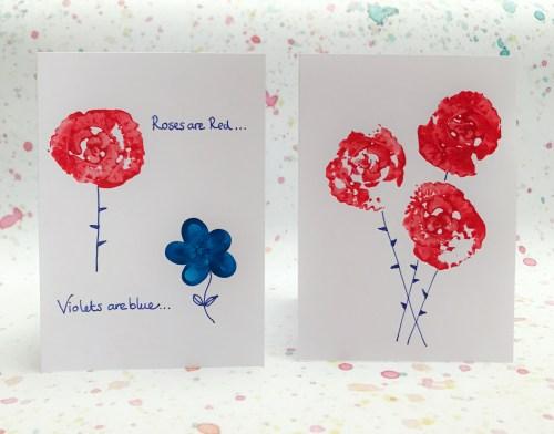 Crafts: Celery Rose Print Valentine's Cards