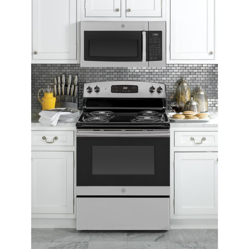 ge 1 6 cu ft over the range microwave in stainless steel