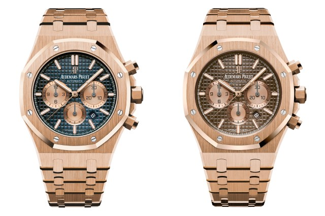 royal oak chronograph audemars piguet sihh 2017 rose gold bracelet