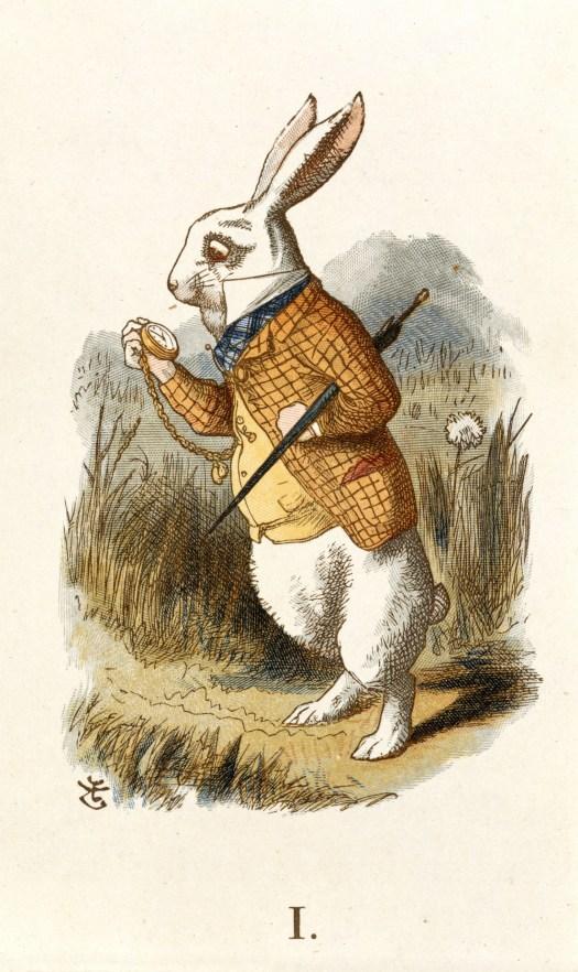 Tenniel white rabbit Alice in Wonderland