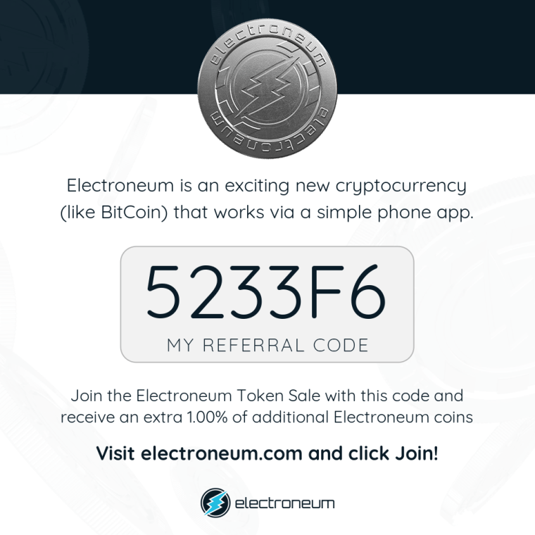 Electroneum Signup Offer
