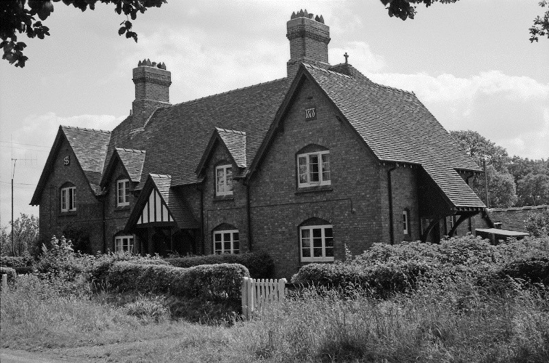 Crossroads Cottages Peplow July 1962