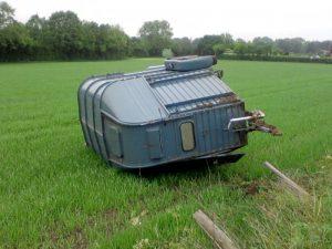 Horsebox in field 1