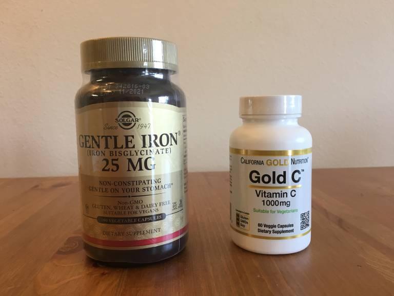 鉄剤とビタミンCサプリメント