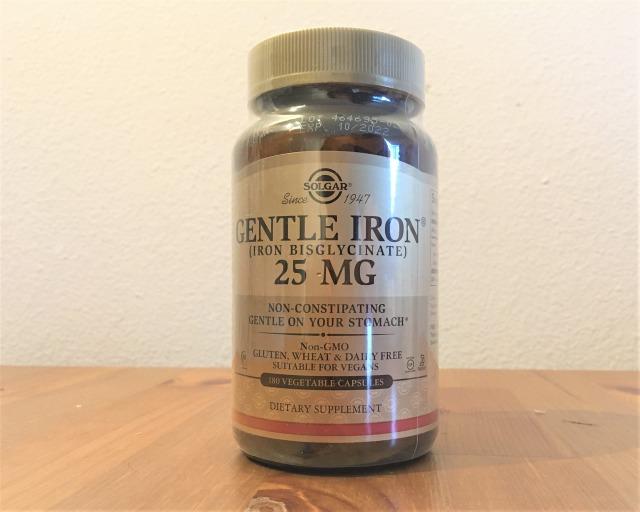 Solgar, ジェントルアイロン 25 mg, 180ベジカプセル