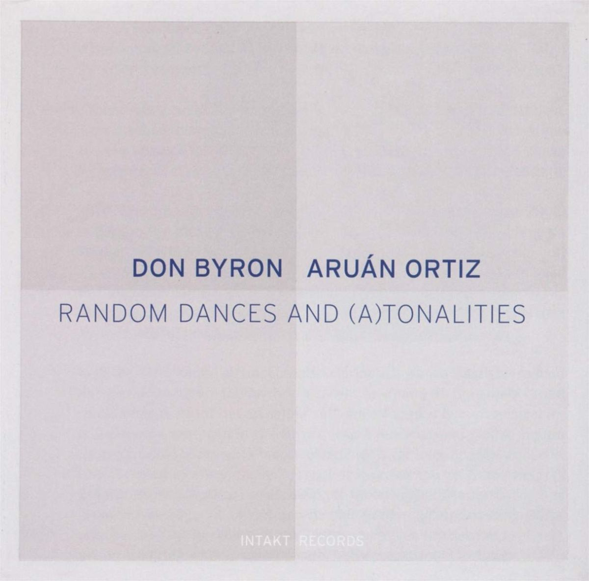 Don Byron, Aruán Ortiz: Random Dances and (A)tonalities [2018]