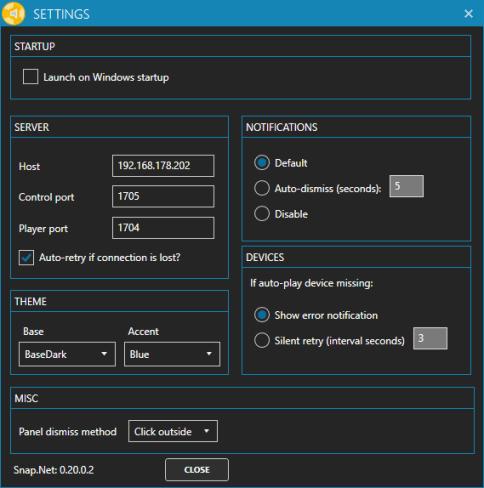 SnapCast Client GUI Windows 02
