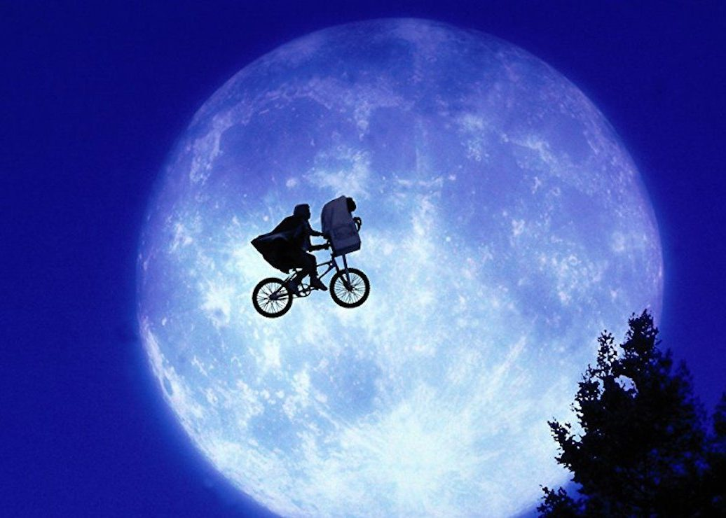 """Notes on Watching """"E.T."""" Again ontheBigScreen There's no time like the 80s to phone home"""