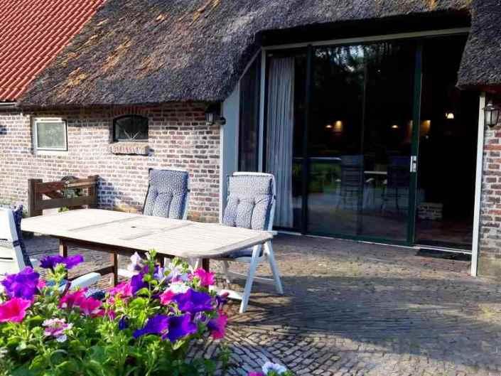 Terras vakantiewoning Drenthe