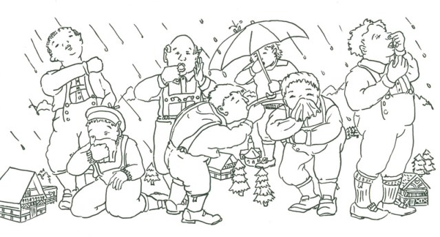 tongue twister coloring book picture of seven giants
