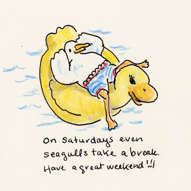 #365daysofdoodles, Day 5, Seagull