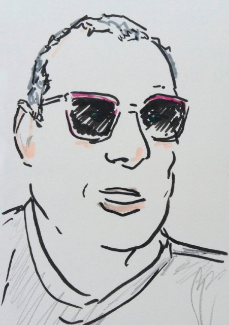 Portrait of a man in sunglasses