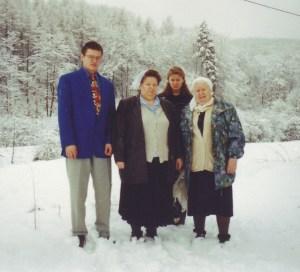 Зима в Германии, 1999 год.