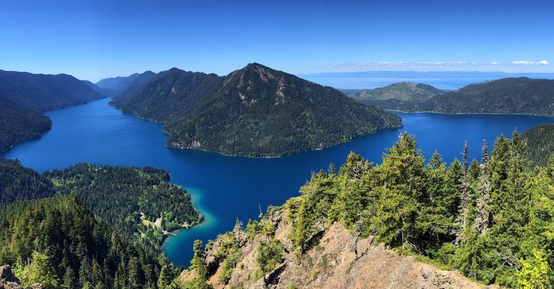 View from atop the Storm King in Olympic National Park in Washington State.