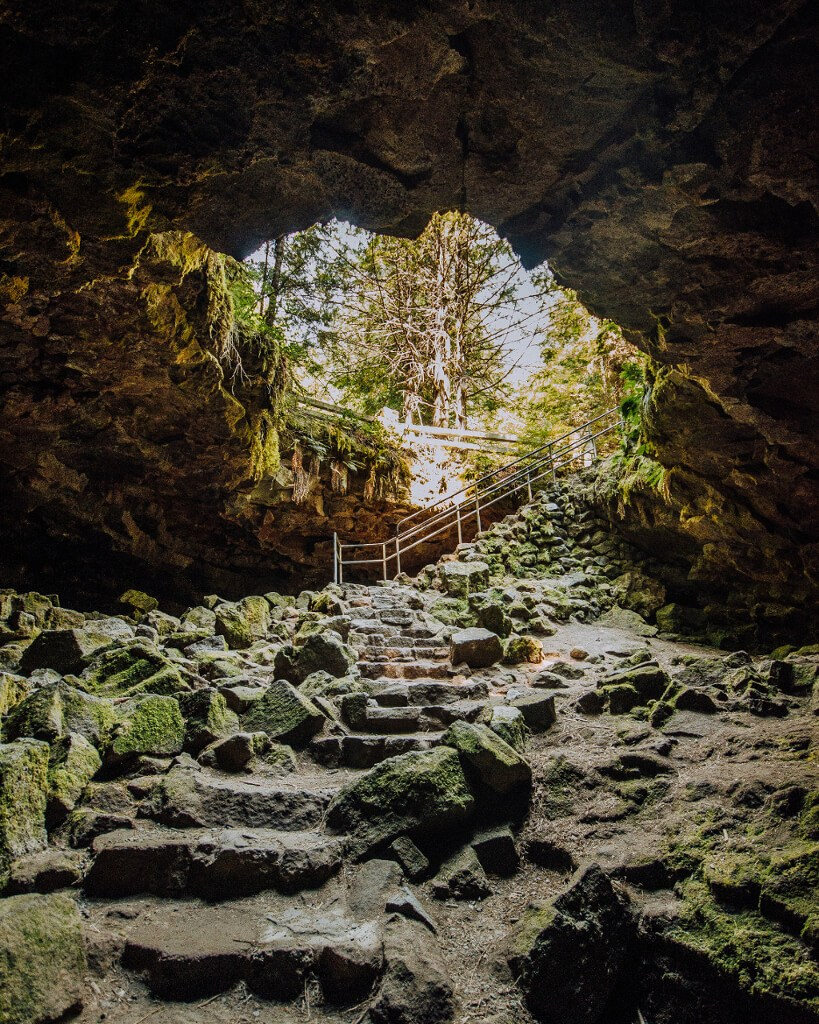 Ape Caves are the third longest lava tube in the USA, in southern Washington.