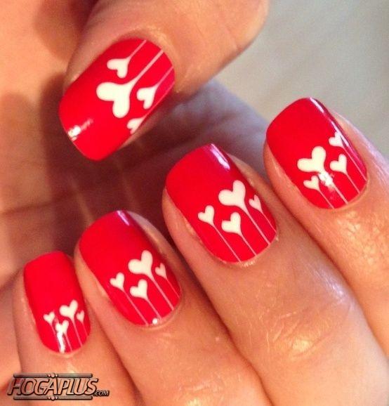 Heart shaped Nail Art Design