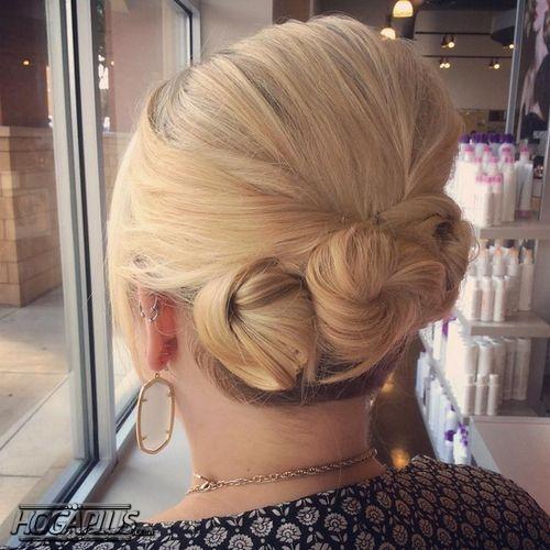 Triple Bun Hairstyle For Short Hair