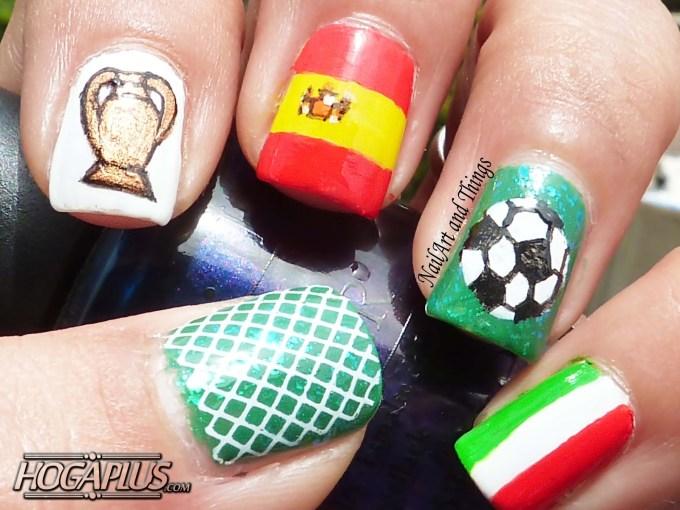 Football lover Nail Art Design